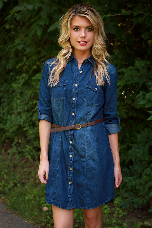 Bring on the Weekend Denim Dress