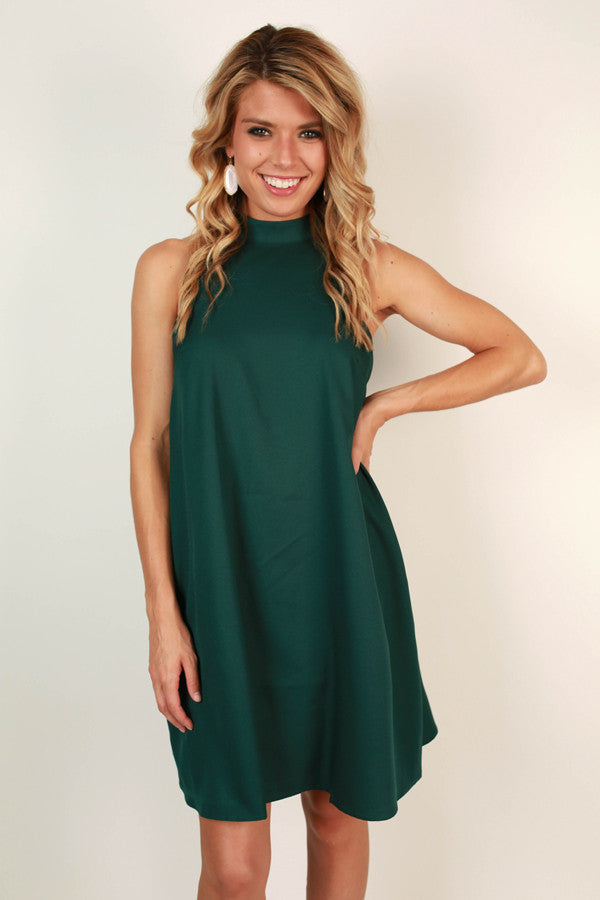 Uptown Vibes Scallop Mini Dress in Lush Meadow
