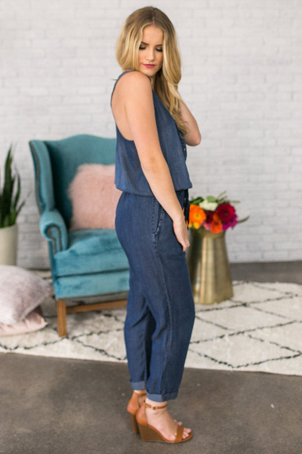 The Journey Chambray Jumpsuit