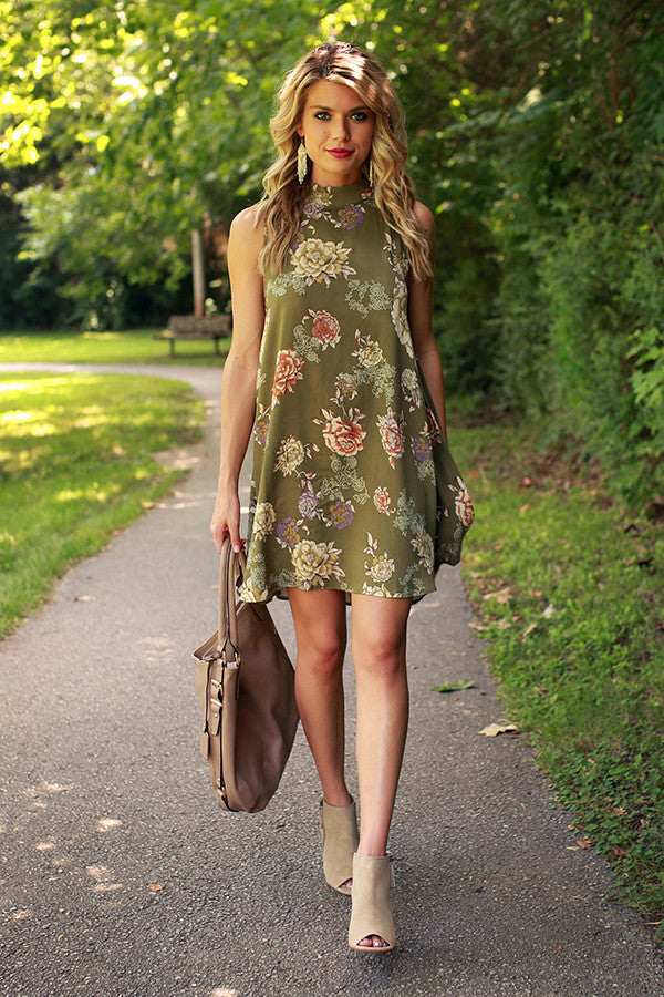 Fallen Leaves Shift Dress