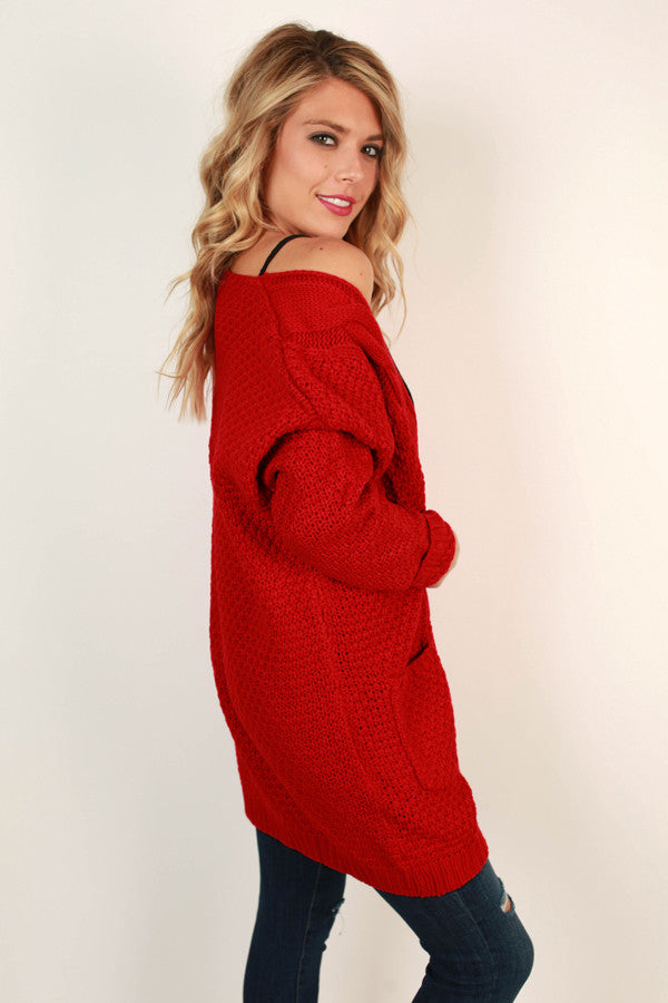 Cheers to Cozy Cardi in Red