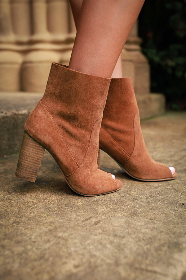 Tom Girl Peep Toe Bootie in Copper