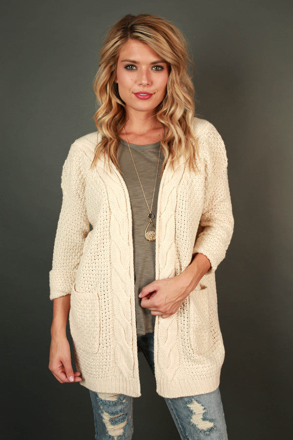 Cheers to Cozy Cardi in Ivory
