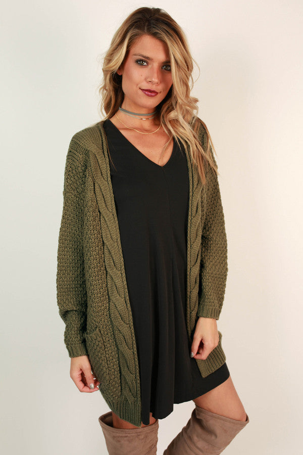 Cheers to Cozy Cardi in Sage
