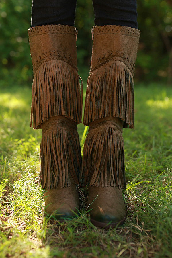 G-Funk Fringe Boot in Brown