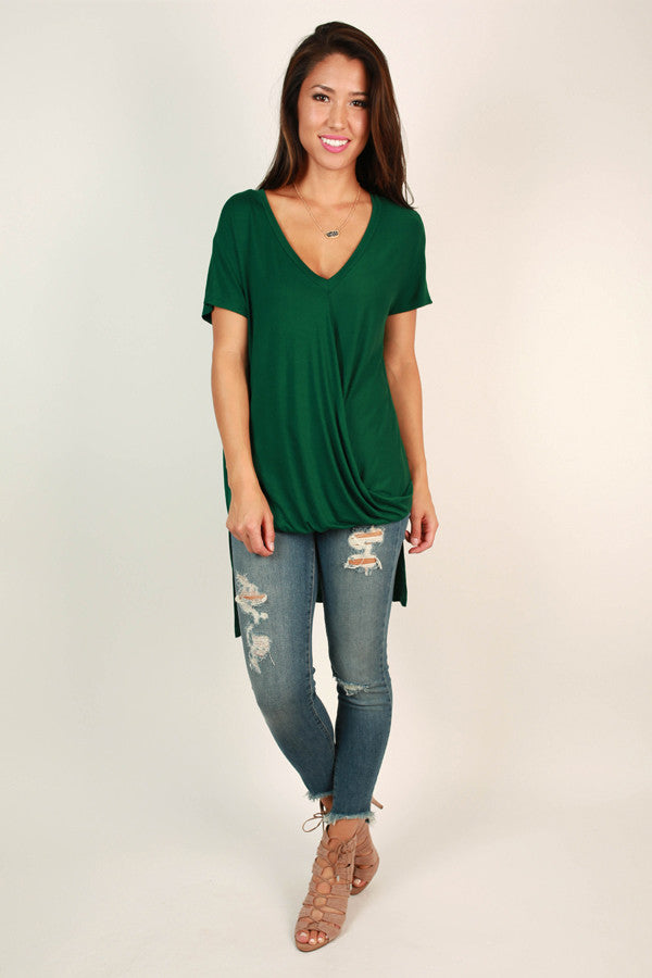Never Let You Down Tee in Green