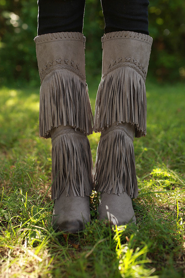 G-Funk Fringe Boot in Taupe