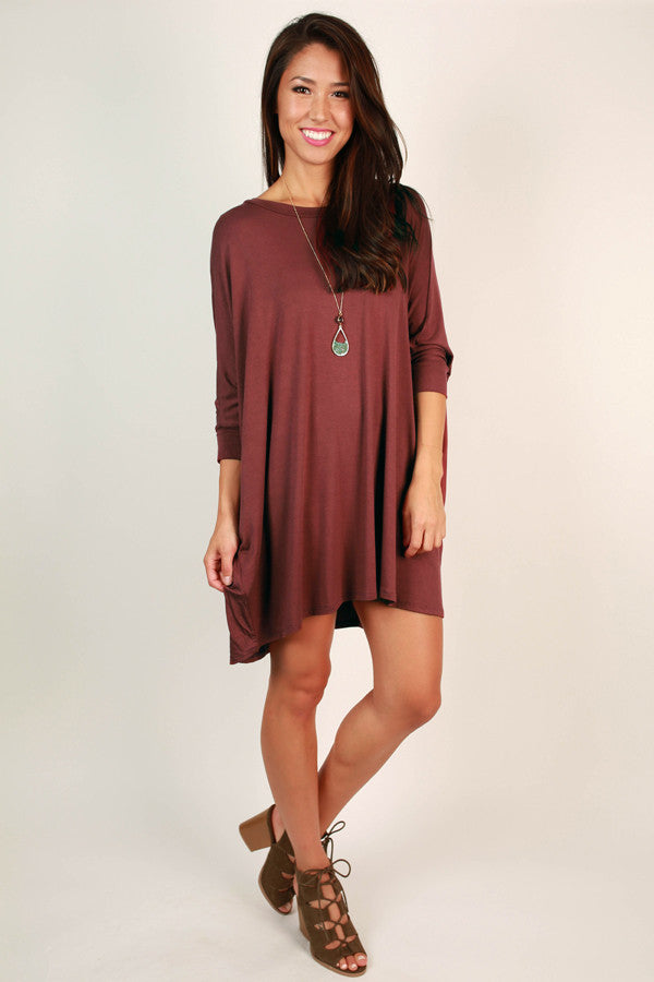 Mind Made Up Shift Dress in Rustic Rose
