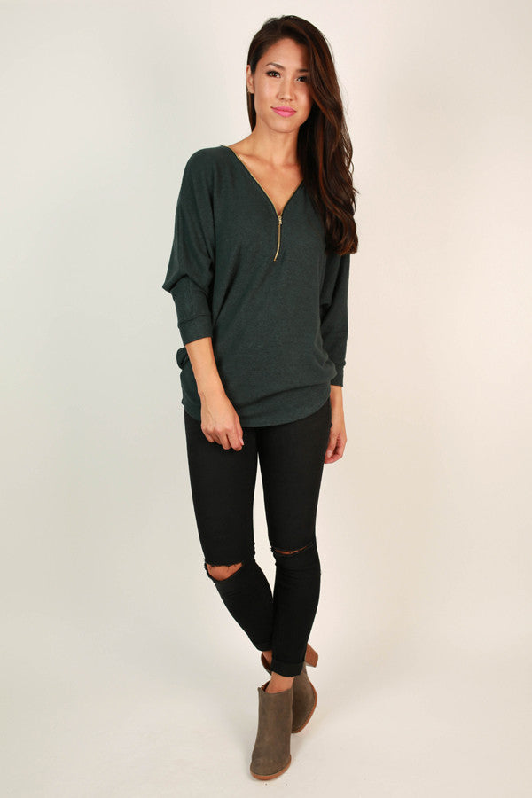 Cuddle Up Cutie Tunic in Lush Meadow
