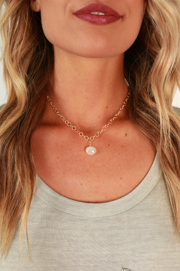 Call Me Lovely Necklace in White
