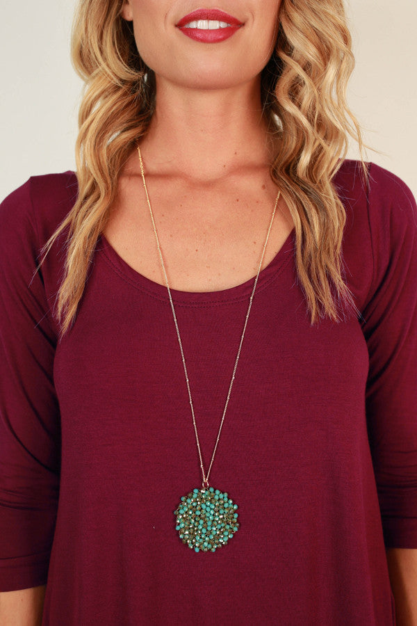Sparkle For Days Necklace in Ocean Wave