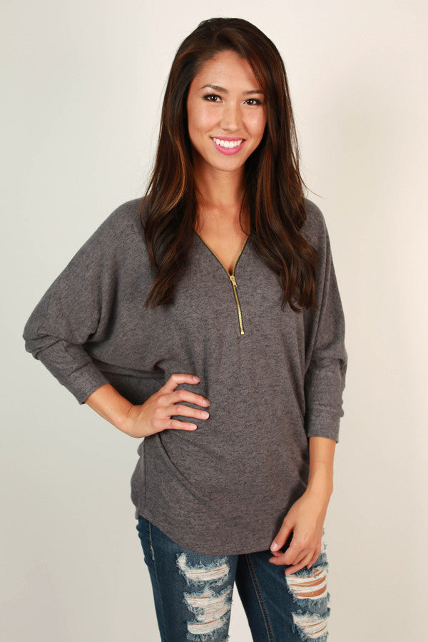 Cuddle Up Cutie Tunic in Fog