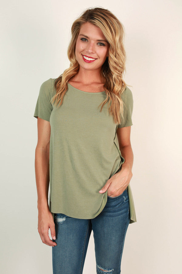 Savvy Style Shift Top in Pear