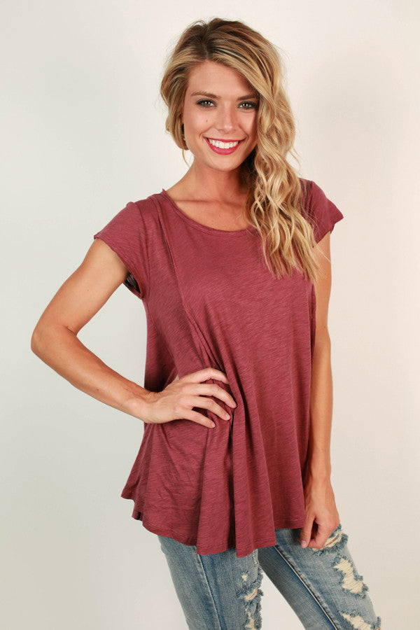 Got Your Back Tee in Rustic Rose
