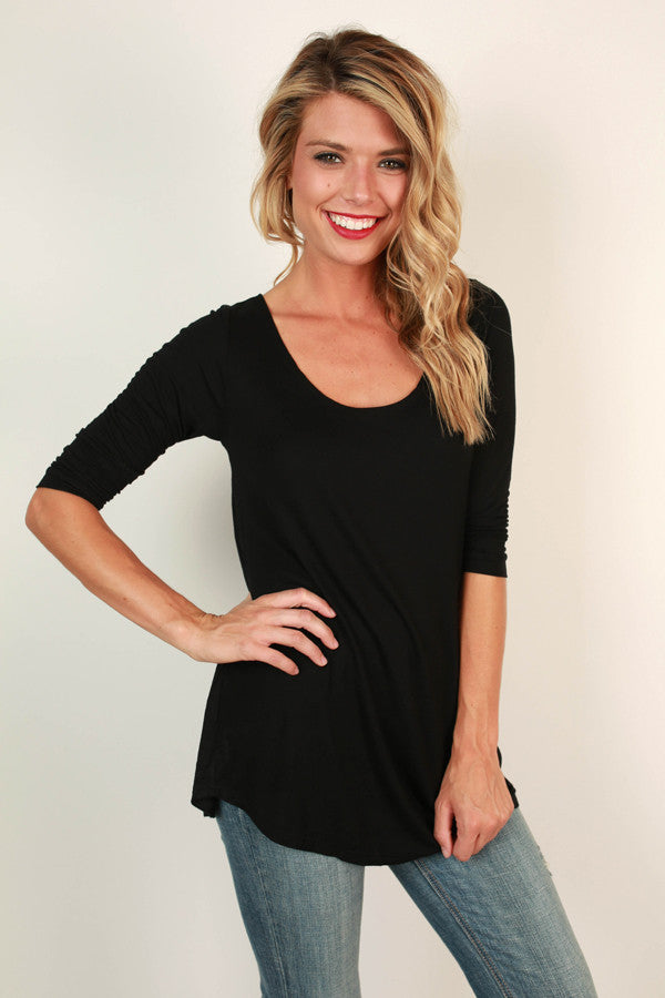 Jet Set Top in Black