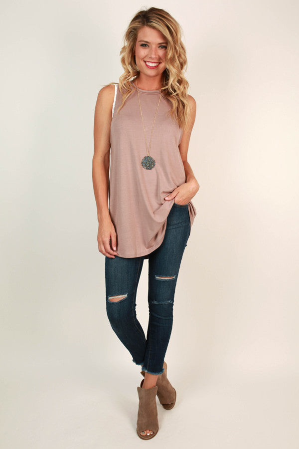 The Good Life Tank in Warm Taupe