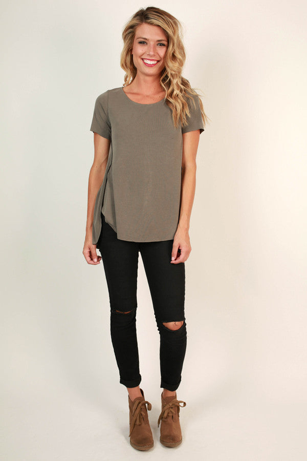 Savvy Style Shift Top in Fog