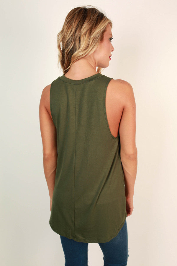 The Good Life Tank in Olive