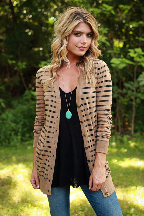 Breeze At Sunset Stripe Cardi