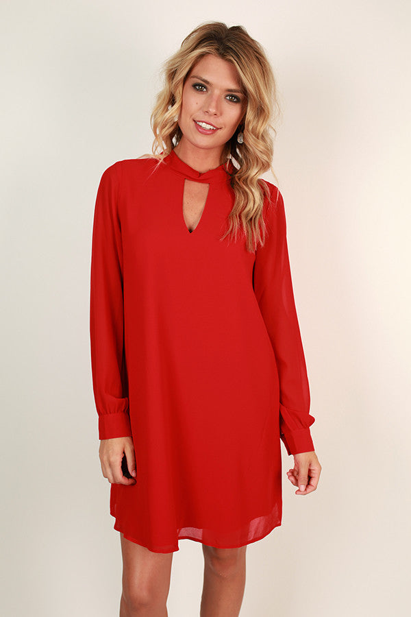 Keep It A Secret Cut Out Dress in Red