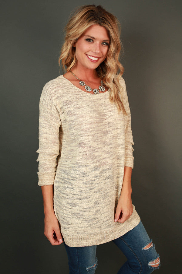 Sweet as Sugar Sweater in Cream