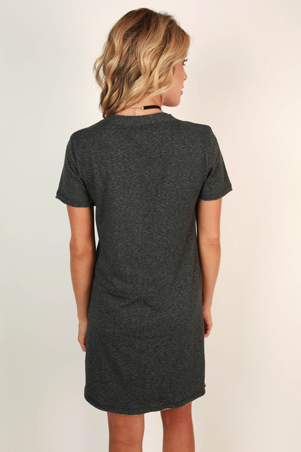 Say You Will Shift Dress in Charcoal