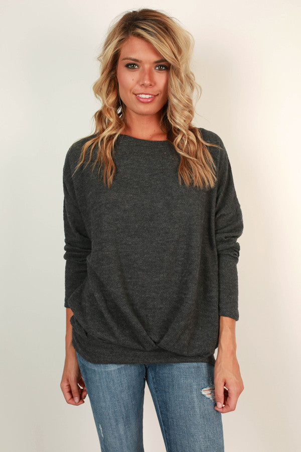 Day To Night Sweater in Charcoal