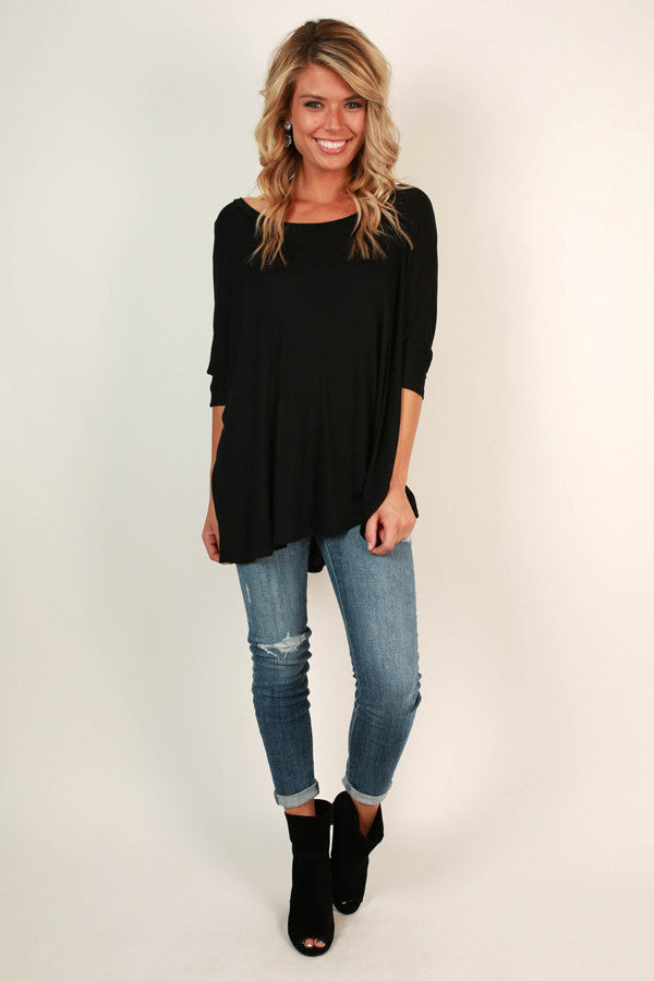 Always Perfect Tee in Black