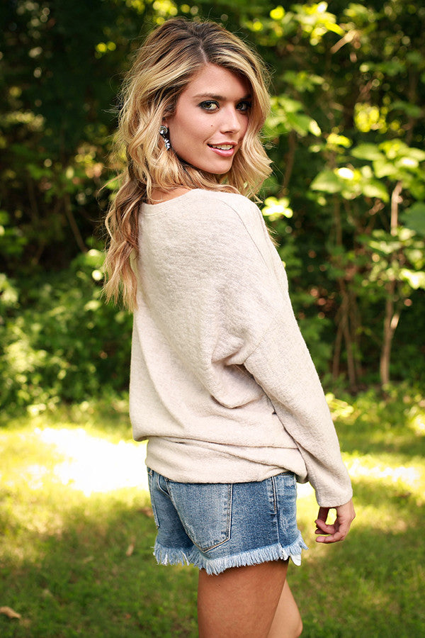 Day To Night Sweater in Stone