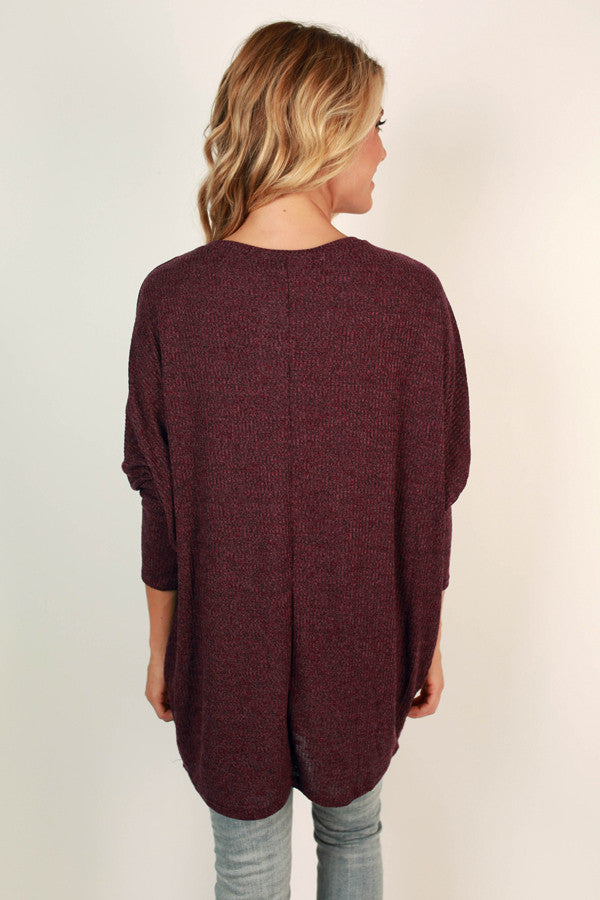 Adventures Ahead Tunic in Vineyard Grape