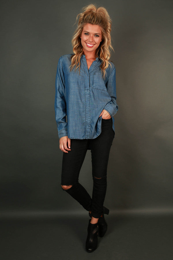 Day Drive Chambray Top