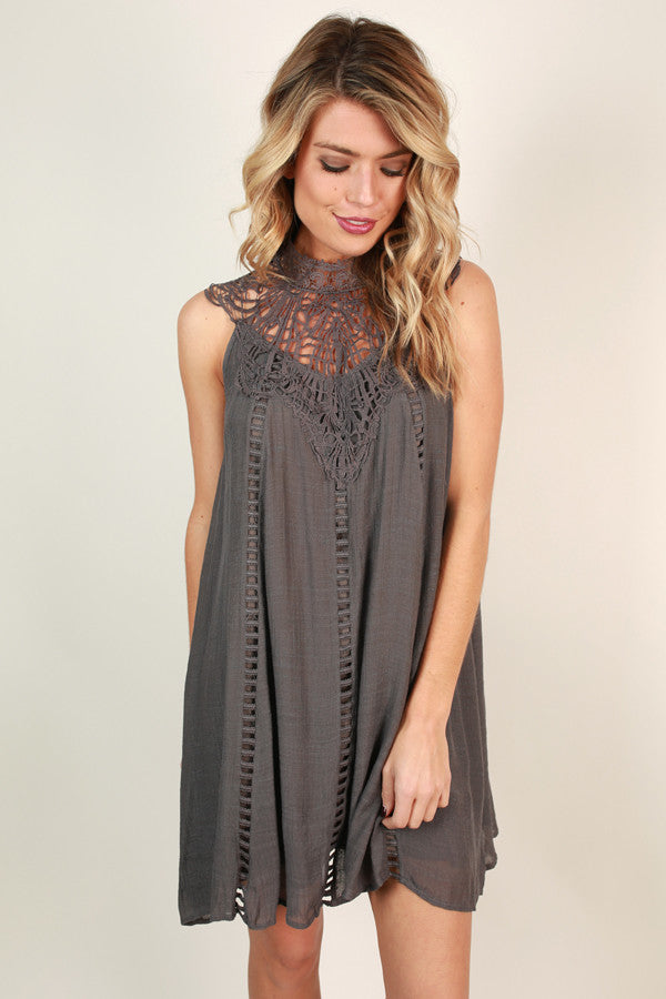 Bliss & Love Shift Dress in Fog