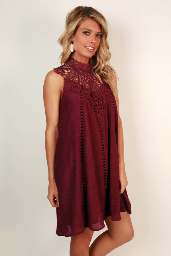 Bliss & Love Shift Dress in Sangria