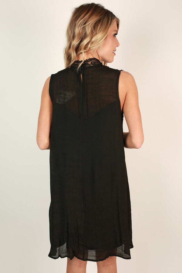 Bliss & Love Shift Dress in Black