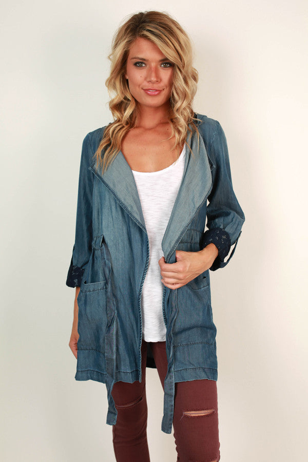 Caught in The Moment Chambray Jacket