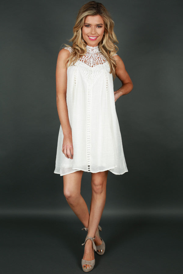 Bliss & Love Shift Dress in White