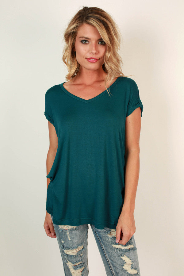 Always The Favorite Shift Tee in Teal