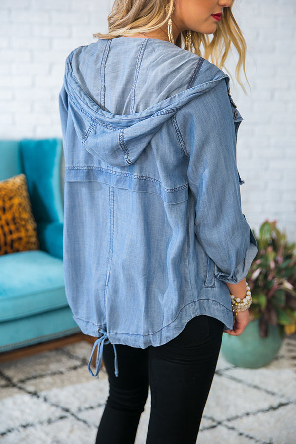 Stop and Stare Chambray Jacket