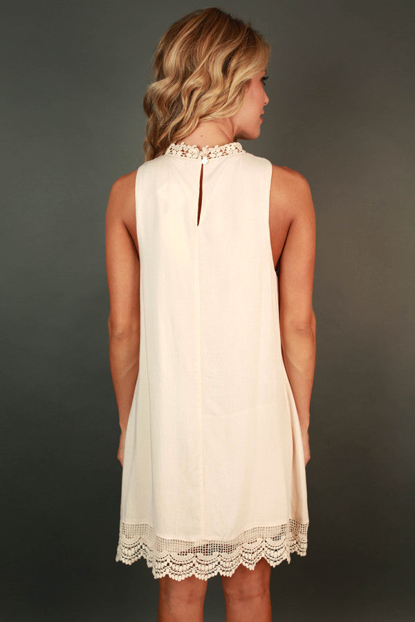 Perfect Kind of Love Shift Dress in Cream