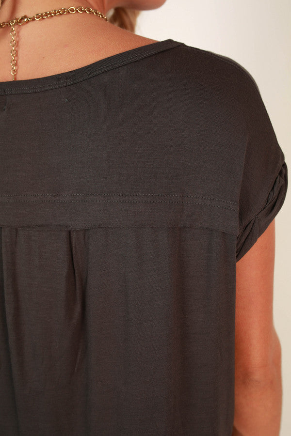 Always The Favorite Shift Tee in Charcoal