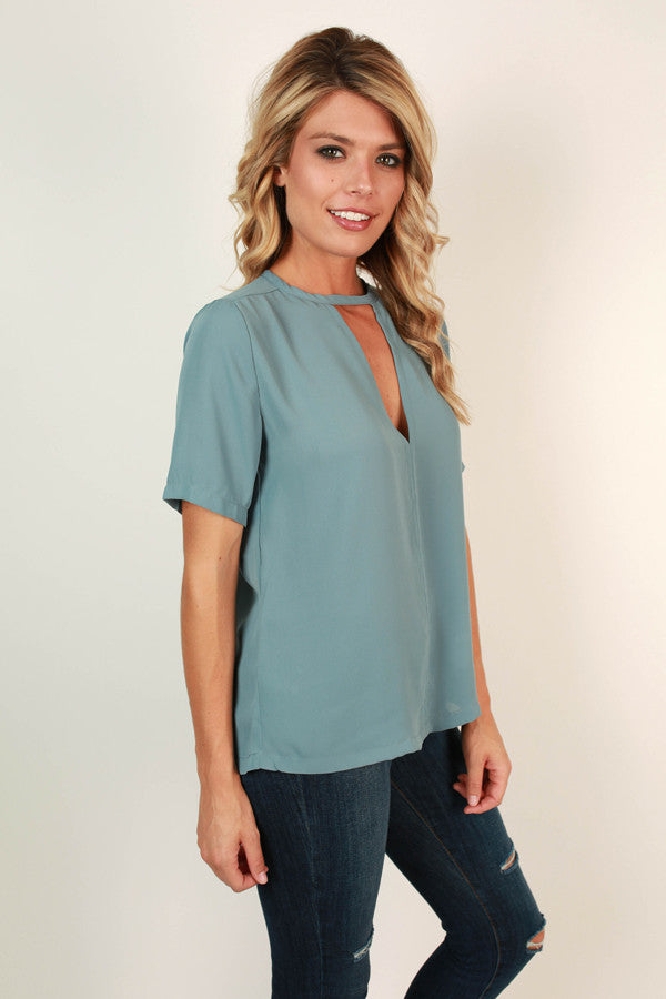 After The Runway Shift Top in Airy Blue