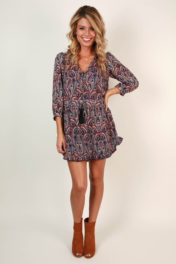 Push The Limits Print Dress