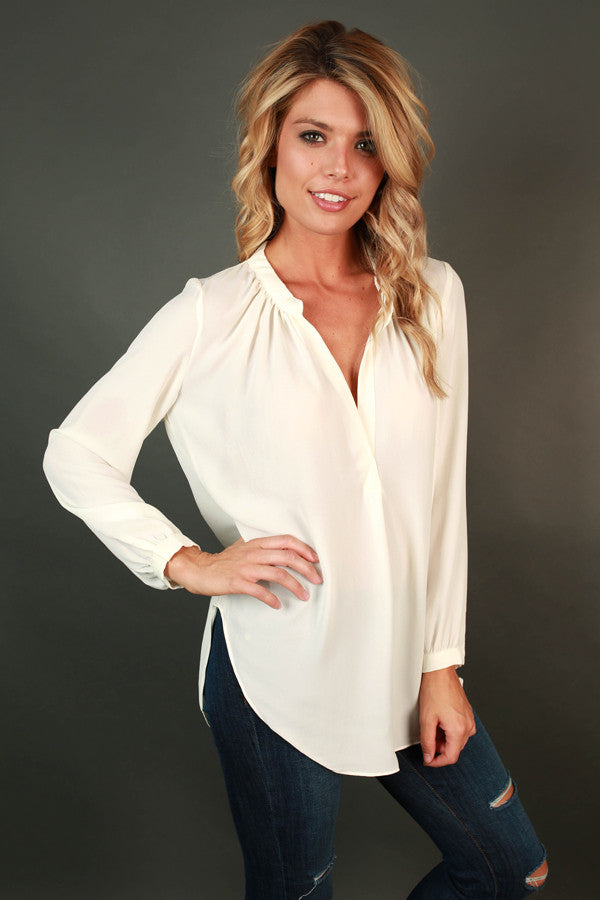 Juniper Darling Top in Ivory