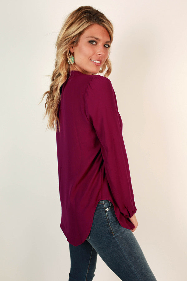 Juniper Darling Top in Vineyard Grape