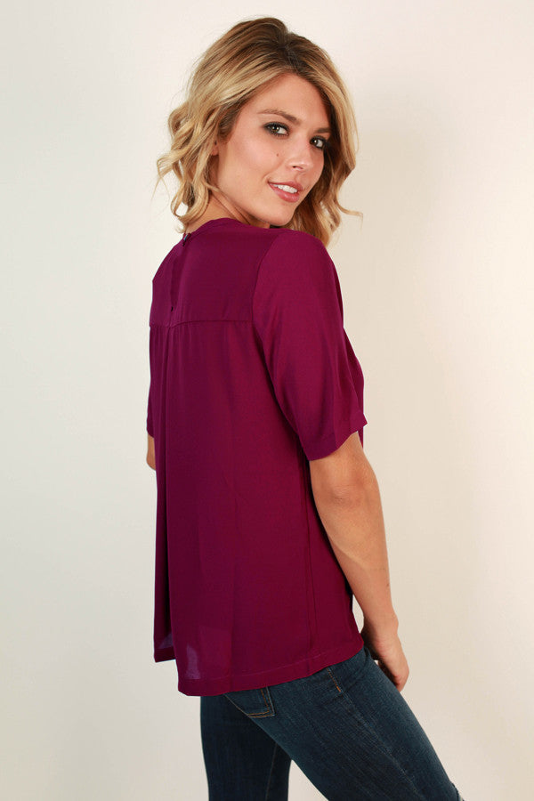 After The Runway Shift Top in Vineyard Grape