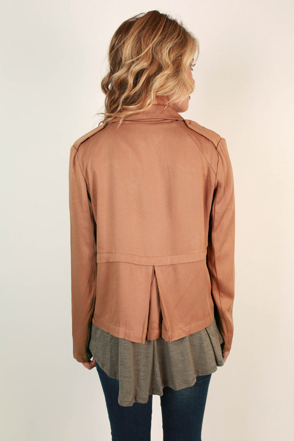 New York Swank Lightweight Jacket in Camel