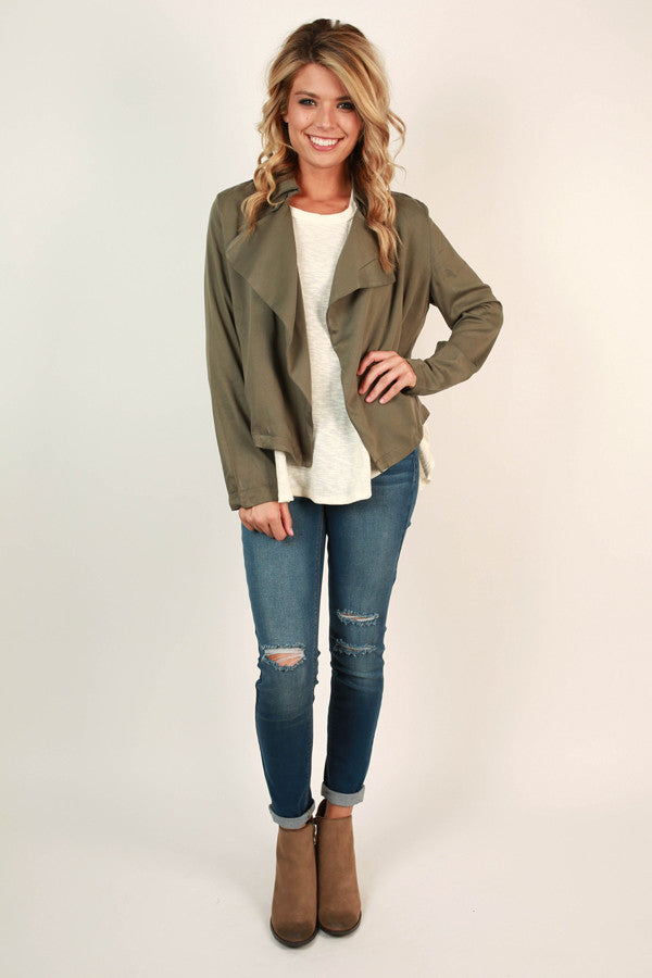 New York Swank Lightweight Jacket in Sage