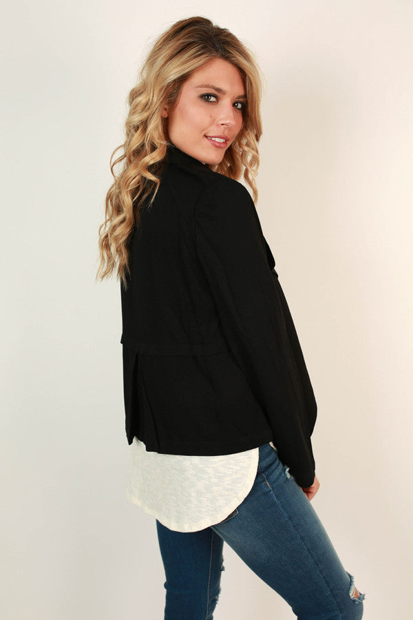 New York Swank Lightweight Jacket in Black