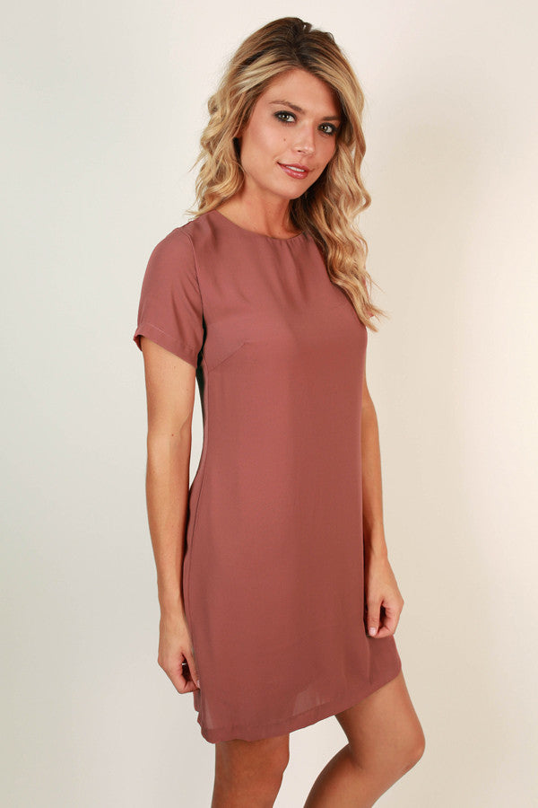 Hollywood Hills Shift Dress in Rustic Rose