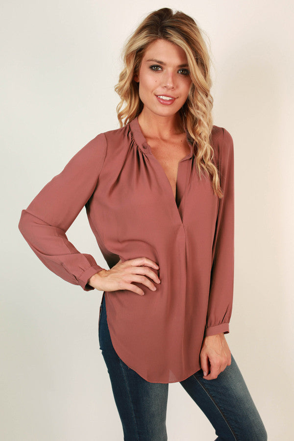 Juniper Darling Top in Rustic Rose